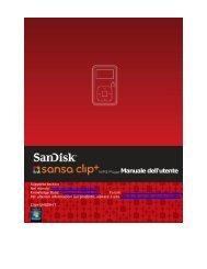 Manuale dell'utente - SanDisk