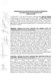Memorandum de Ejecución de los Preacuerdos del 6 - Sindicato ...