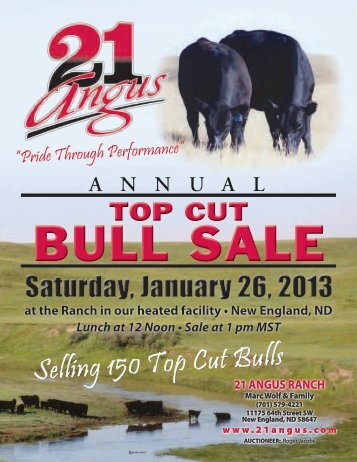 Top Cut Bull Sale (PDF: 6.75 MB) - Ballyhoo Printing