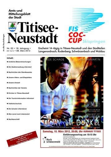 Amtsblatt Nr. 05 vom 08.03.2012 - Titisee-Neustadt