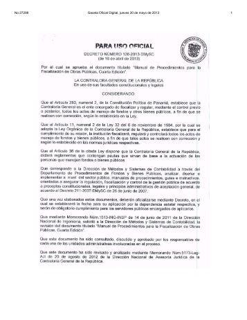No 27298 Gaceta Oficial Digital, jueves 30 de mayo de 2013 1