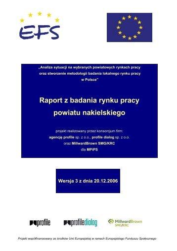 Raport z badania rynku pracy powiatu nakielskiego - Ministerstwo ...