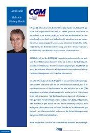 Lebenslauf Gabriele Bläsing-Haufe - CGM