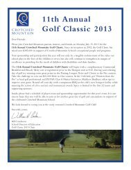 11th Annual Golf Classic 2013 - Crotched Mountain