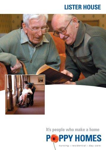 Lister House - Poppy Homes brochure - The Royal British Legion