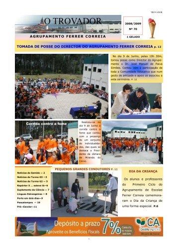 """Jornal """"O Trovador"""" - 3.º Período - Início"""