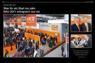 Was für ein Start ins Jahr: BAU 2011 erfolgreich wie nie