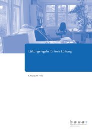 Lüftungsregeln für freie Lüftung - Bundesanstalt für Arbeitsschutz ...