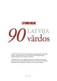 """""""Latvija 90 vārdos"""" bija konkurss, kas tautiešiem ... - Latvians Online"""