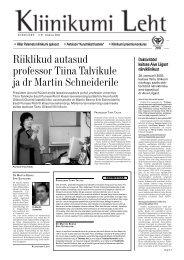 nr 61 Veebruar - Tartu Ülikooli Kliinikum