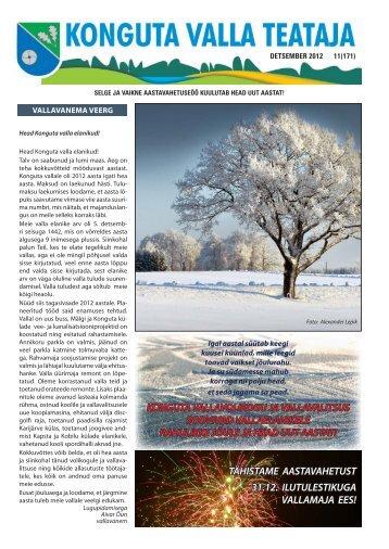 Konguta valla infoleht Detsember 2012 - Konguta Vald