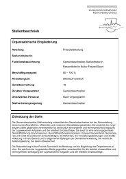 Stellenbeschrieb - Gemeinde Münchenbuchsee