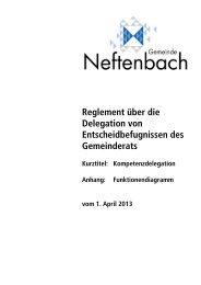 Kompetenzdelegation mit Funktionendiagramm - Gemeinde ...