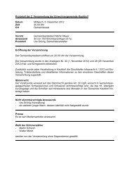 Protokoll der Gemeindeversammlung vom 5.12.2012 ... - Kaufdorf