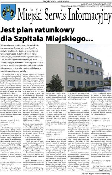Jest plan ratunkowy dla Szpitala Miejskiego… - Piekary Śląskie
