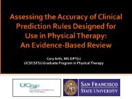 Assessing the Accuracy of Clinical Prediction Rules Designed for ...