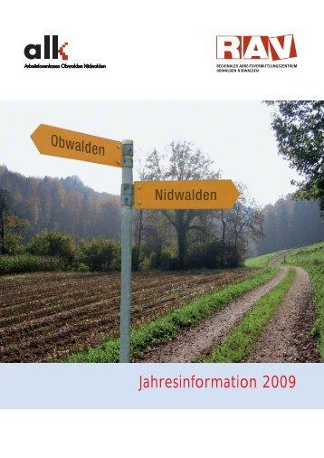 Jahresinformation 2009 - RAV OW-NW