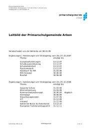 Leitbild der Primarschulgemeinde Arbon - Psgarbon.ch