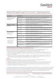 Klebstoffempfehlung für Fermacell® Gipsfaserplatten - Shop