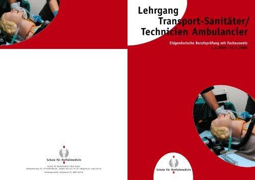 Technicien Ambulancier - Schule für Notfallmedizin