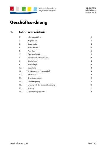 Geschäftsordnung - Volksschulgemeinde Region Diessenhofen