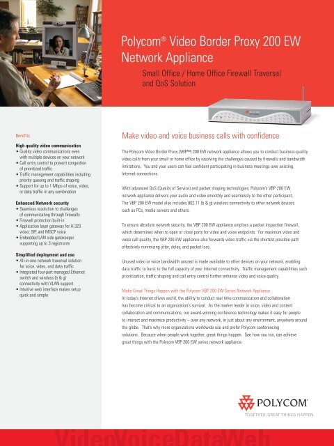 Polycom Video Border Proxy (VBP) 200 EW Network Appliance - STV