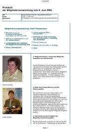 Protokoll der Mitgliederversammlung vom 6. Juni 2005 - SWISS NLP