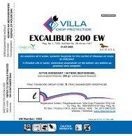Excalibur 200 EW E_Villa - Villa Crop Protection