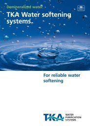 TKA Water softening systems.