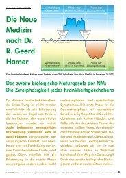 Die Neue Medizin nach Dr. R. Geerd Hamer