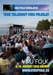 TERE TULEMAST VIRU FOLGILE! - Viru Folk