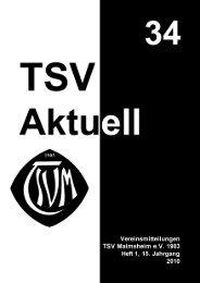 TSV Aktuell Nr. 34 - TSV Malmsheim