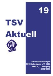 TSV Aktuell Nr. 19 - TSV Malmsheim