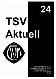 Deckblatt - TSV Malmsheim