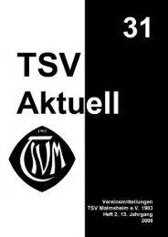 Aus dem Inhalt - TSV Malmsheim