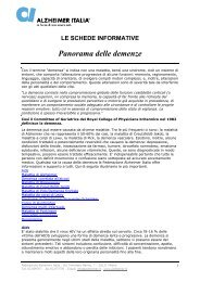 Panorama delle demenze - Alzheimer Italia