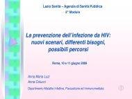 La prevenzione dell'Infezione da HIV - Agenzia di Sanità Pubblica ...