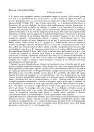 Dispensa 1 - Facoltà di Lettere e Filosofia