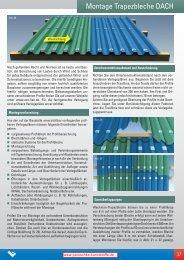 Montage Profilbleche Dach - Paruschke Kunststoffe