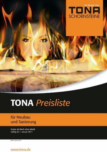 Stand: Januar 2011 - TONA - Schornsteine