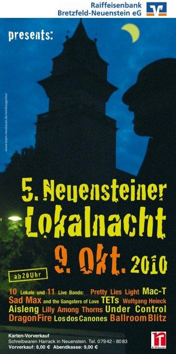 Der Flyer mit dem Veranstaltungsplan zur ... - TSV Neuenstein