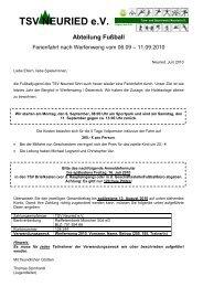 TSV NEURIED e.V. Mitglied des BLSV