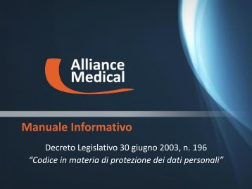 INFORMATIVA PRIVACY - Alliance Medical