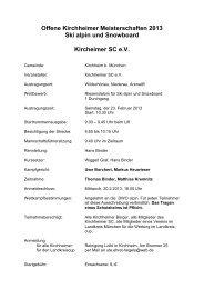 Der KSC, Abteilung Ski- und Bergsport informiert: - TSV Neuried