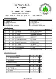 Spielplan - TSV Neuried