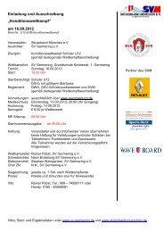 Einladung und Ausschreibung - TSV Neuried