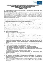 Zulässigen Änderungen an Feuerschutzabschlüssen - Deutsches ...