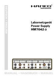 Labornetzgerät Power Supply HM7042-3
