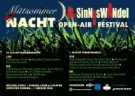 31. Juli MittsoMMernacht live Telaphones, Zürich Breandan Davey ...