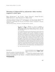 Detection of Salmonella by polymerase chain reaction - Biologia ...